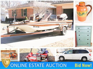 2005 Chrysler T&C, 1978 Cajun Bass Boat, Antiques & More Ending 3/28/18