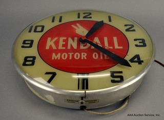Kendall Motor Oil Clock