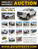 Vehicles and Equipment Auction
