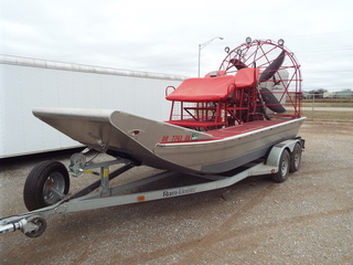 2012 Alumitech 18' Air Boat,