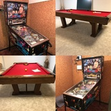 Star Trek Pinball Machine, Brunswick Pool Table, LG Washer & Dryer