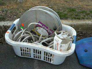 Lot# 4 - Laundry basket with pvc strappi