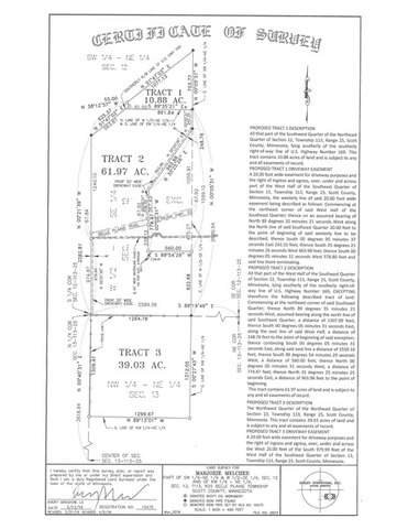 111.88 ACRES TO SELL ABSOLUTE IN SCOTT COUNTY, MN