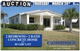 2 BEDROOM • 2 BATH Concrete Home with 50'x100' Lot