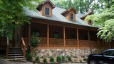 BEAUTIFUL CUSTOM LOG HOME on over 20+/- Acres with Old Style Barn w/ Living Quarters