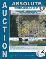 July 26 - Absolute Auction 83 Florida Homesites