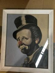 Emmett Kelly Painting By Meketi