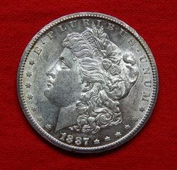 Lot# 2 - 1887 S Morgan Silver Dollar
