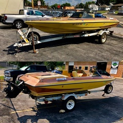1978 Glastron Carlson CVZ Bow Rider 18 ft Ski Boat, Recently Overhauled, w/ 1990 898 Mercury V8 Engine