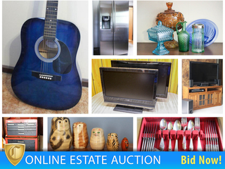 Downsizing Estate Auction: Furniture, Décor, Sterling & More