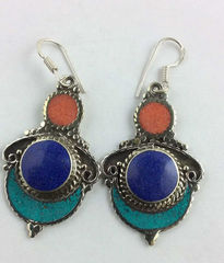 Lot# 502 - Turquoise and red coral, lapi
