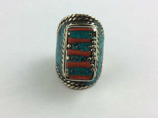Lot# 503 - Turquoise and red coral Nepal