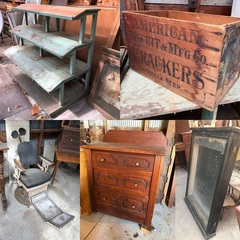 Primitive Store Fixtures, Furniture, Dental Cabinet, Post Office Sorting Tables