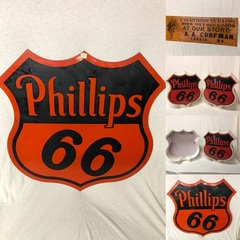 Phillips 66 Porcelain Sign, Gas Globe, Signs