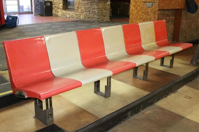 Incredible Retro Bowling Alley Auction Lanes Seating Restaurant Gmtry Best Dining Table And Chair Ideas Images Gmtryco