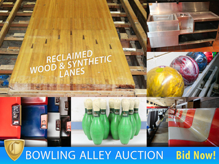Retro Bowling Alley Auction - Lanes, Seating, Restaurant Equipment