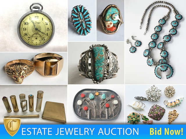 433f7b2f4f09 Estate Jewelry Auction - Part II  100+ Pieces of Native American ...