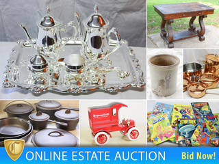 Packed Gladstone Estate w/ New Old Stock Home Goods Clothing & More