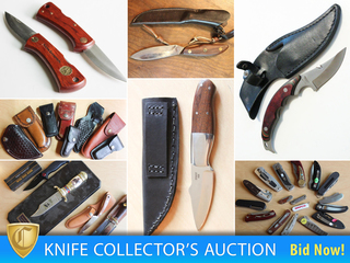 Knife Collector NKC Estate, Cutler's Cache of Supplies, Materials, Finished Products