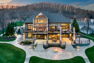 Spectacular 7000sf+ Lakefront Retreat with Stunning Residence, Guest House and 4500sf Dock  | Lake of the Ozarks | MM42