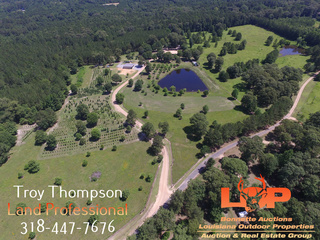 76.39 Acres and Country Home For Sale in Pollock, LA