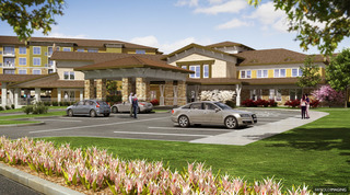 Rendering Front View Site Plan