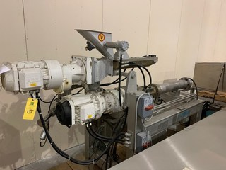 Buhler Twin Screw Extruder Model M-MN-400 SN 10321928 with Control Panels: