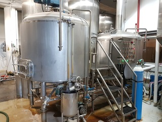 Complete Brewhouse for MicroBrewery --15bbl 2-vessel -- Located Montreal, CN