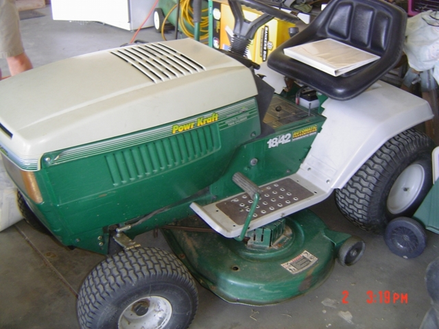 Al Rose Auction Realty Llc Re Montgomery Wards Powr Kraft Lawn Tractor
