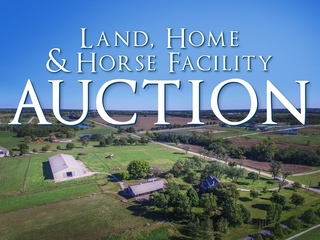 GONE! Land/Home/Horse Facility Auction: 20 Acres Offered in 2 Tracts with Home, Barn & Arena   Bucyrus, KS