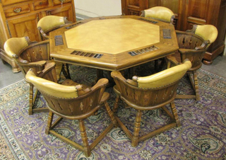 Viking Oak Poker table
